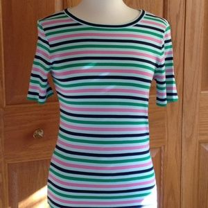 J CREW - Perfect Fit Tee - 1x1 Ribbed